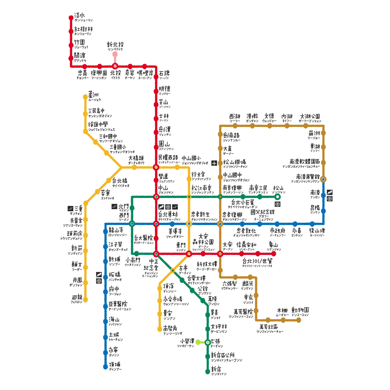 台北捷運詳細站名
